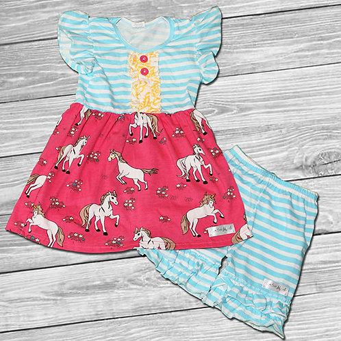 Unicorn Love Ruffle Outfit