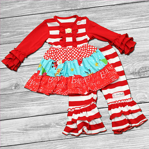 Santa Sweetie Ruffle Outfit
