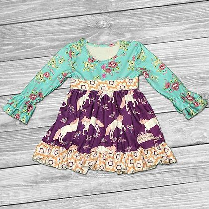 Unicorn Fields Ruffle Dress