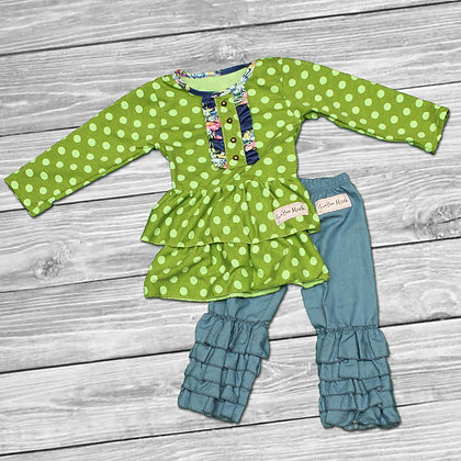 Green Polka Outfit