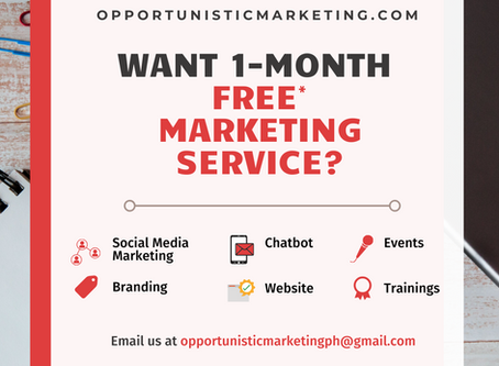 Want 1-Month FREE*Marketing Service?
