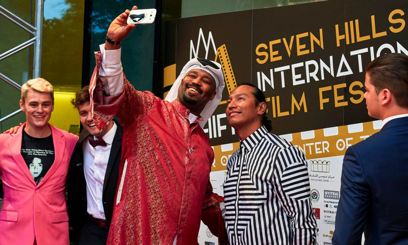 Selfie on the red carpet