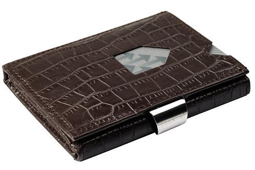 EX 102 Caiman Brown Deri Kartlık - Cüzdan
