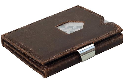 EX 018 Nubuck Brown Deri Kartlık - Cüzdan
