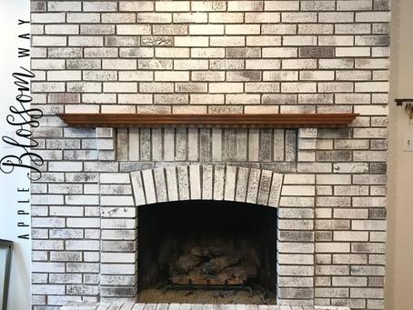 Faux German Smear Fireplace Flip