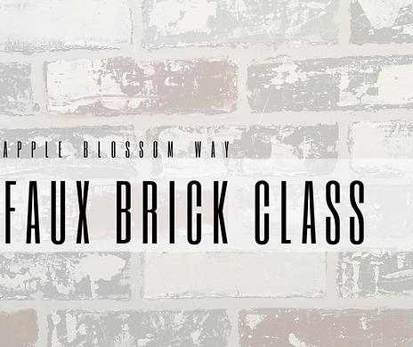 Faux Brick Wall Class