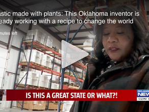 This Oklahoma inventor is working on Plastic made with plants