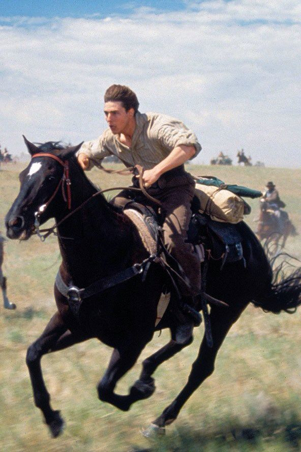 Tom cruise acts out the land rush of 1889