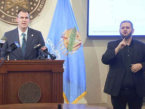 Gov. Kevin Stitt walked drops restrictions on bars and restaurants Wednesday
