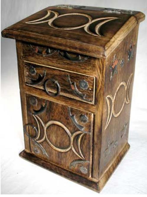 Triple Moon Herb Cupboard