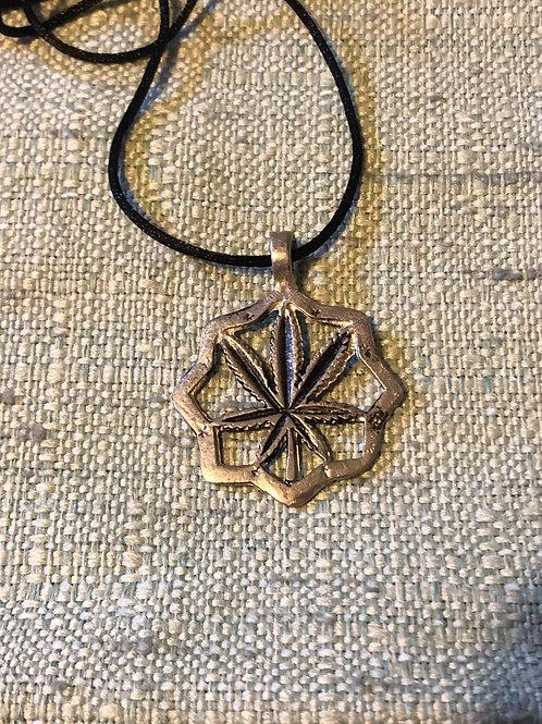 Cannabis Leaf Amulet