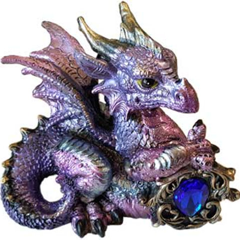 Pink & Purple Dragon with Stone