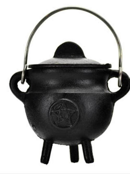 Pentagram Cauldron With Lid