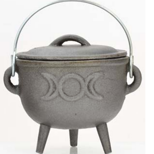 Triple Moon Cast Iron Cauldron
