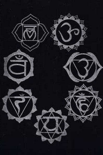 """7 Chakra Pendulum Mat 8""""x12"""""""