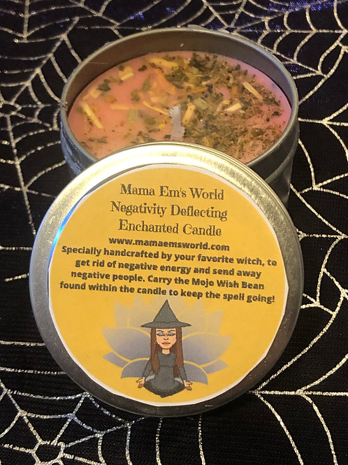 Mama Em's Enchanted Spell Candles - Negativity Deflecting