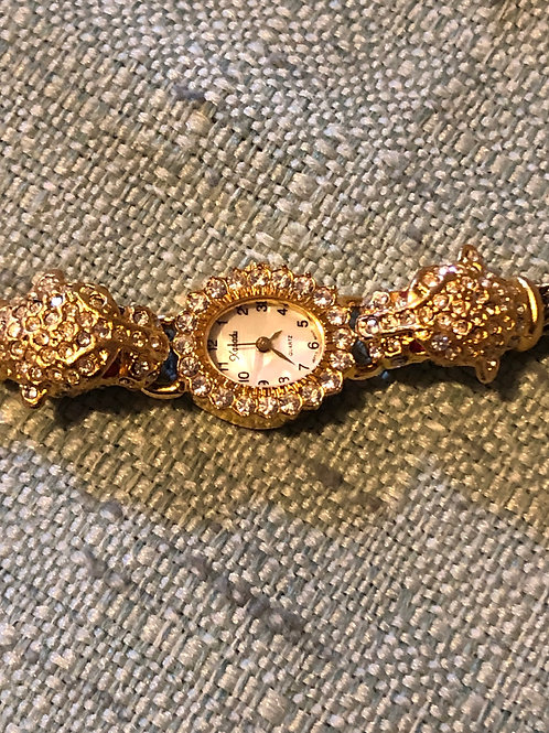 Rhinestone Leopard Watch