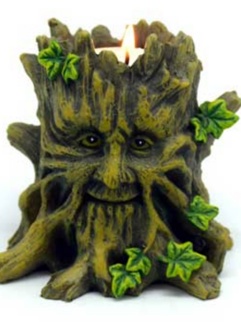 Greenman Tealight Candle Holder