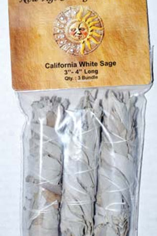 3 Pack White Sage Smudge Sticks