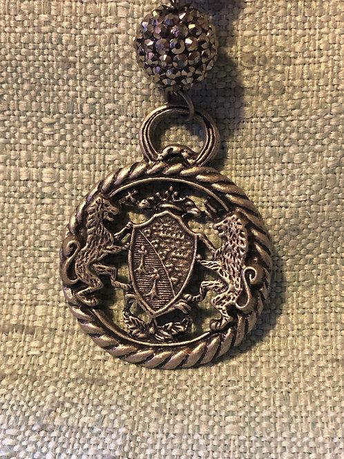 Dual Lions Handmade Necklace