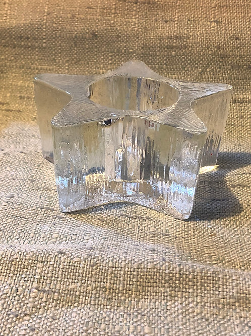 Heavy Duty Solid Glass Star Candle or Crystal Ball Holder