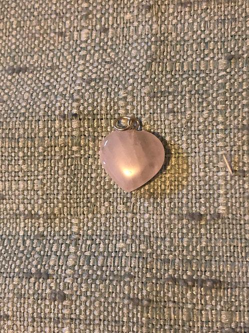 Rose Quartz Heart Charm