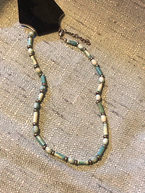 Blue Tint Shell Necklace