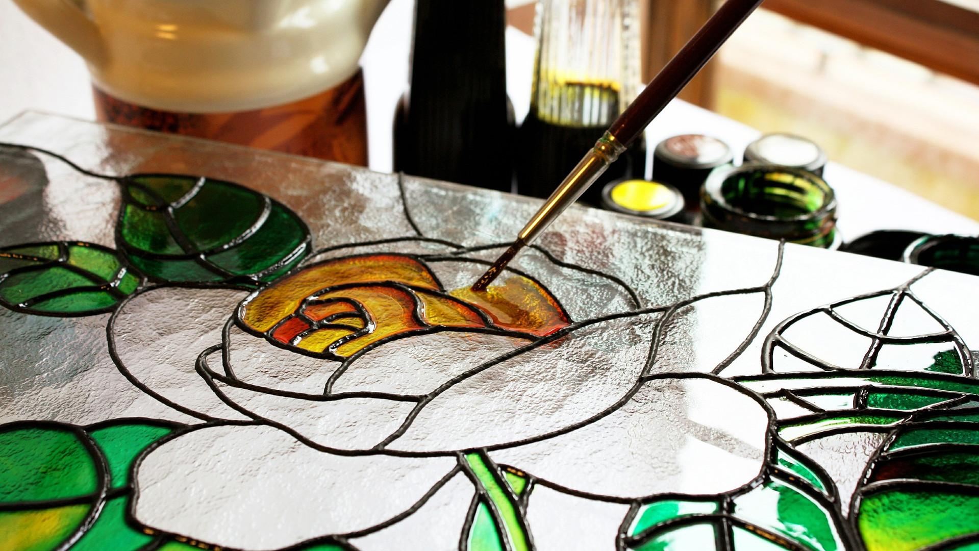 彩色玻璃畫
