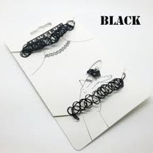 Black Tattoo Choker Sets