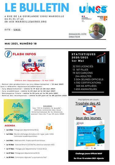 Bulletin UNSS Aix Marseille mai 2021