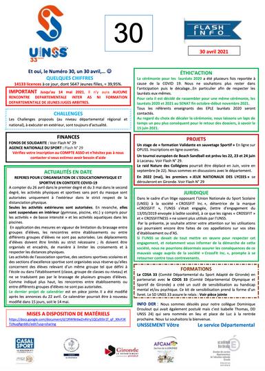 Infos UNSS_33