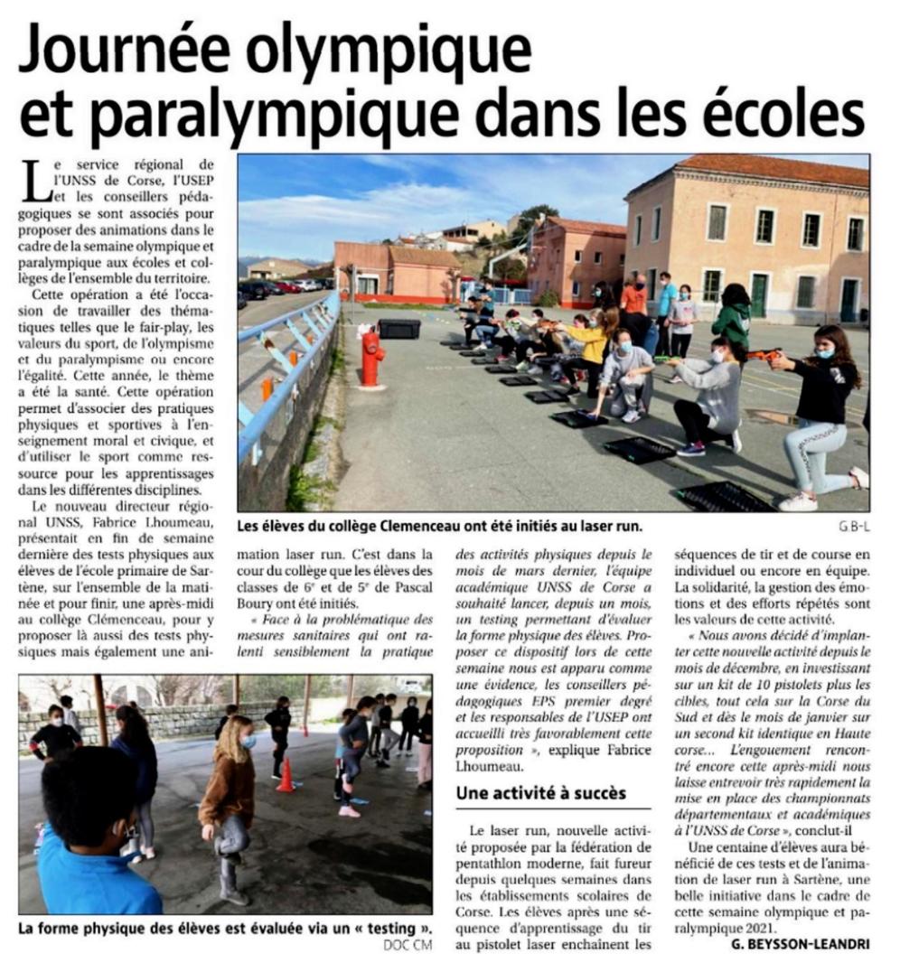 La SOP 2021 en Corse