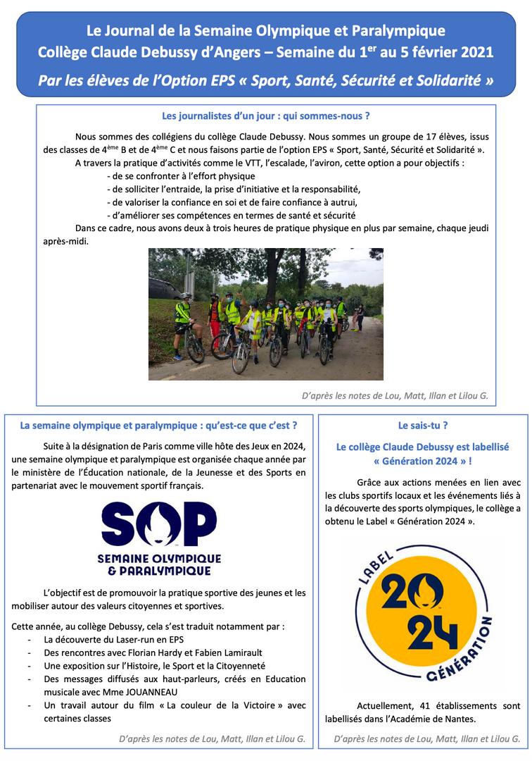 Le Journal de la SOP