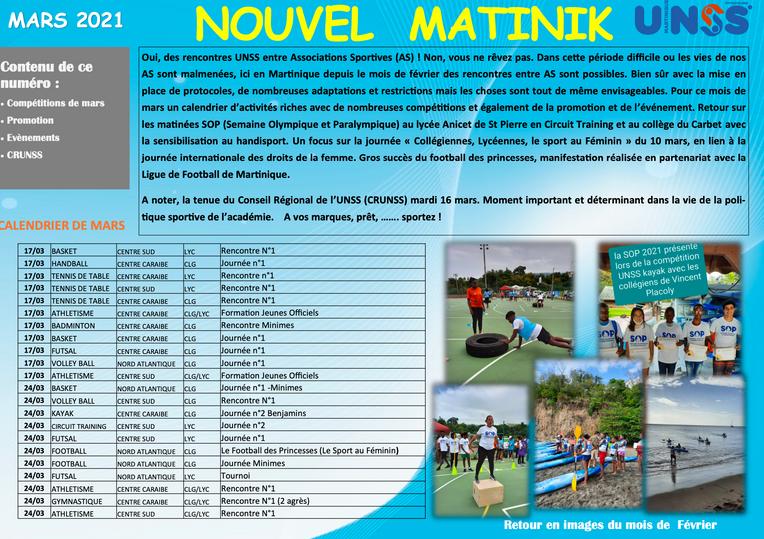 Nouvel UNSS Martinik