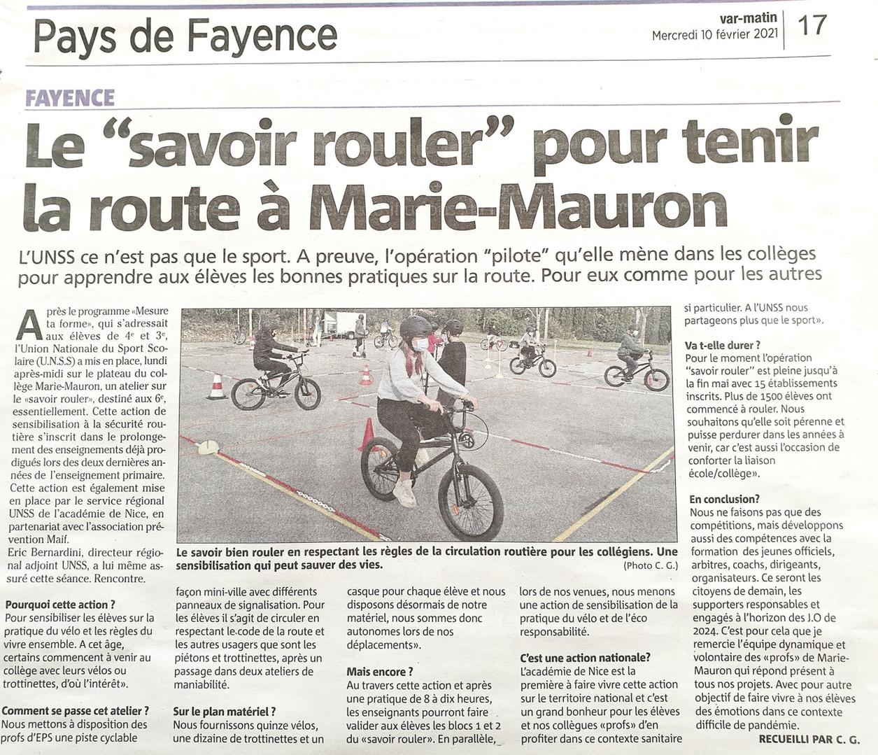 """""""Savoir Rouler"""" dans le Var"""