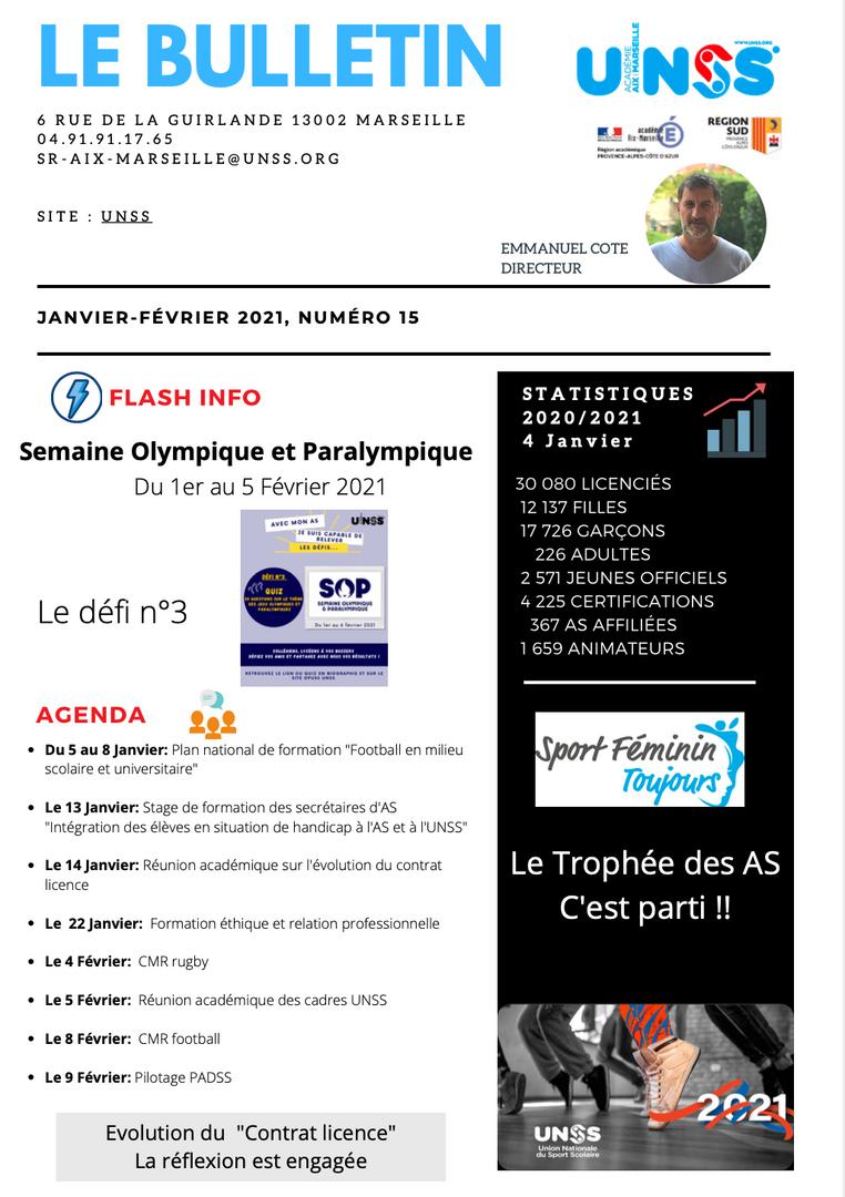 Flash Infos UNSS Aix Marseille