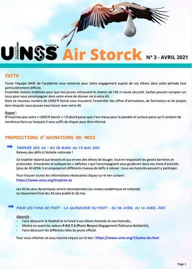 UNSS'R Storck_N° 3_ avril 2021