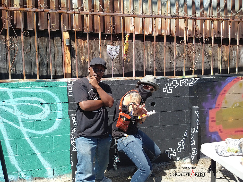 King Cre8 & Mego at Summer Paint Out 2020 in Los Angeles  California at Five Point Youth Foundation