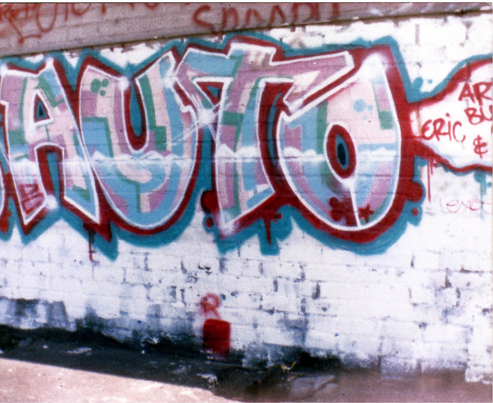 At 15 King Cre8 was on his way painting this for a local auto shop in Los Angeles CA in the late 1980's