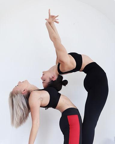 Zhana and Jemma Doing Backbends