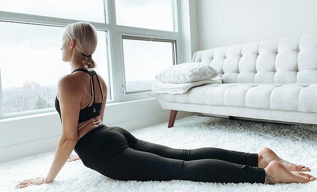 Zhana stretching her back