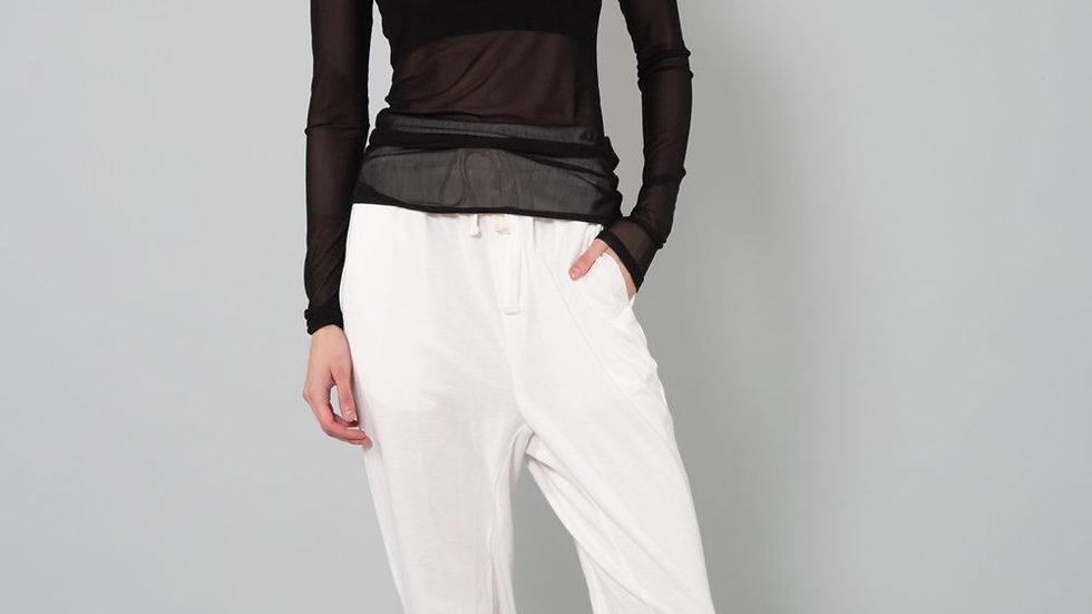 Major Basic | Sheer Long Sleeve Top