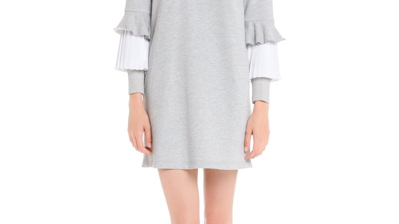 Ruffle Me |Sweatshirt Dress