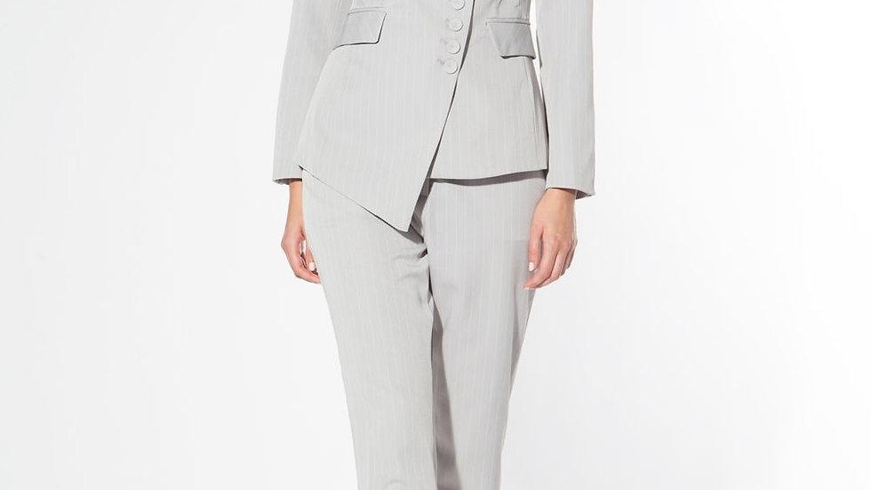 Miss Ceo | Grey Pinstrip Suit