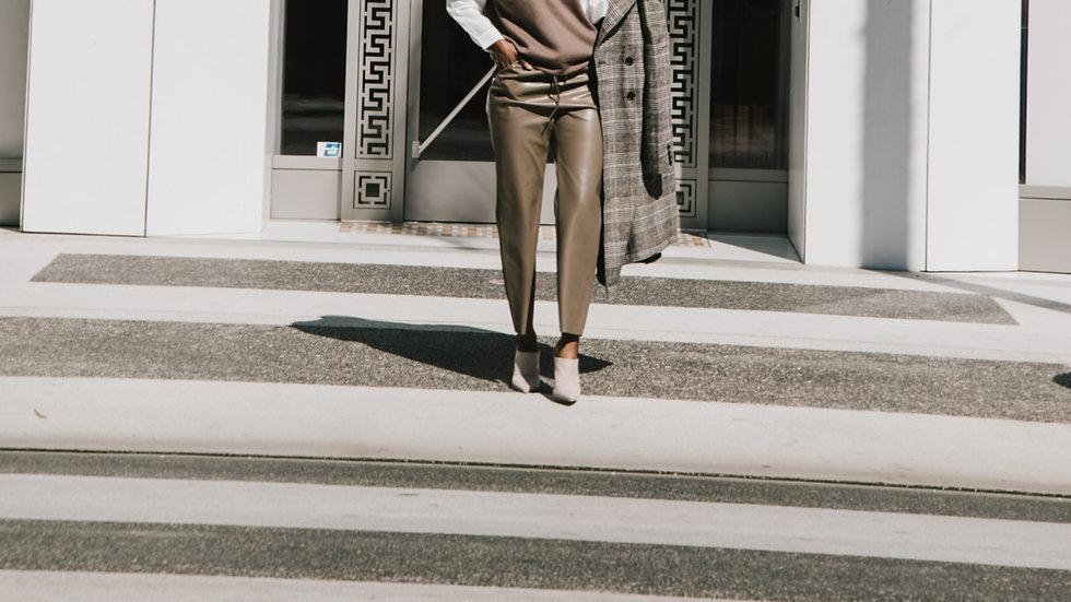 Vouge Look | Faux Leather Pant