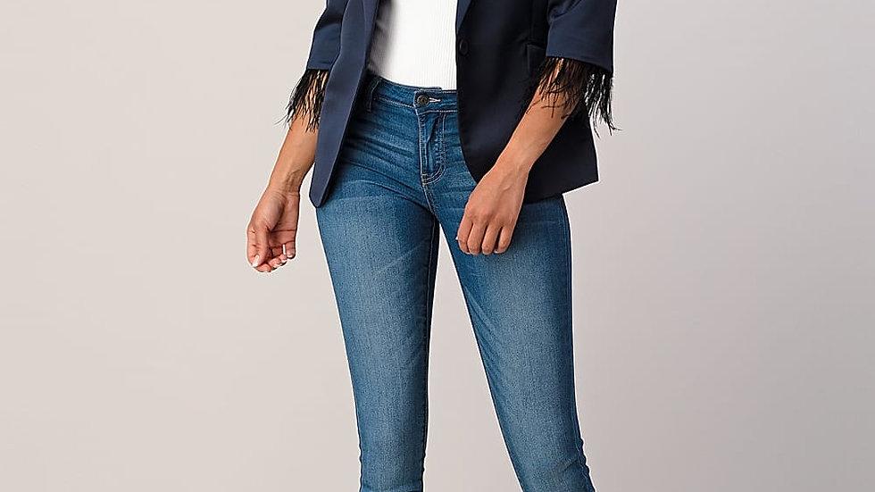 Boss Babe| Crop sleeve Navy Blazer