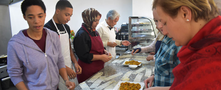 Arabic students particpate in the Moroccan Cooking Club