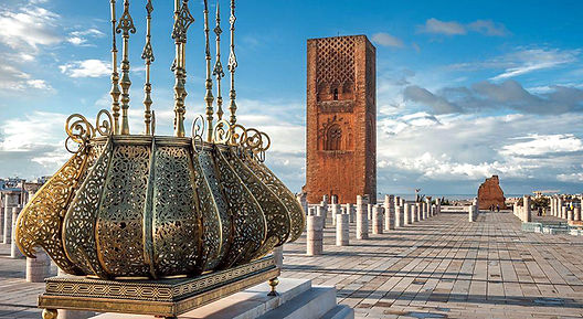 The famous Hasan Tower in Rabat