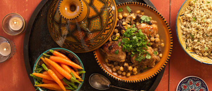 Tajine, a traditional Moroccan dish served at the Qalam Cafeteria