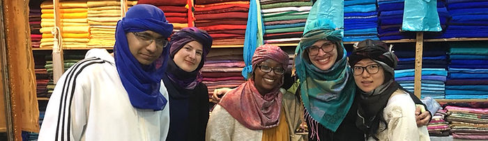 Arabic students enjoy cultura excursion in Morocco